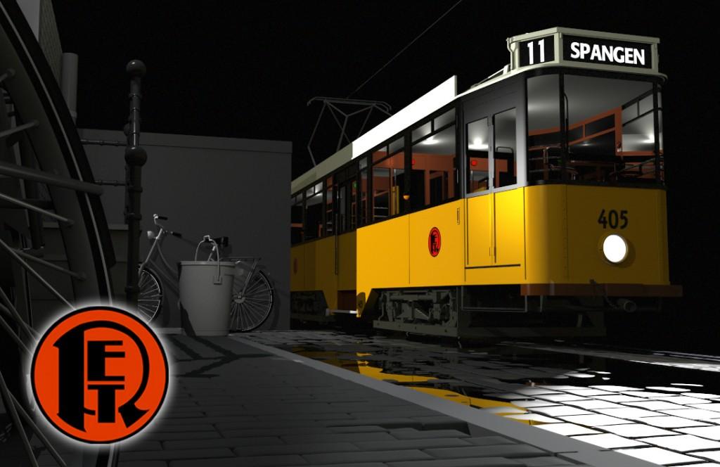 tram 405 frame