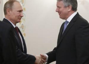 Poetin en Van Beurden